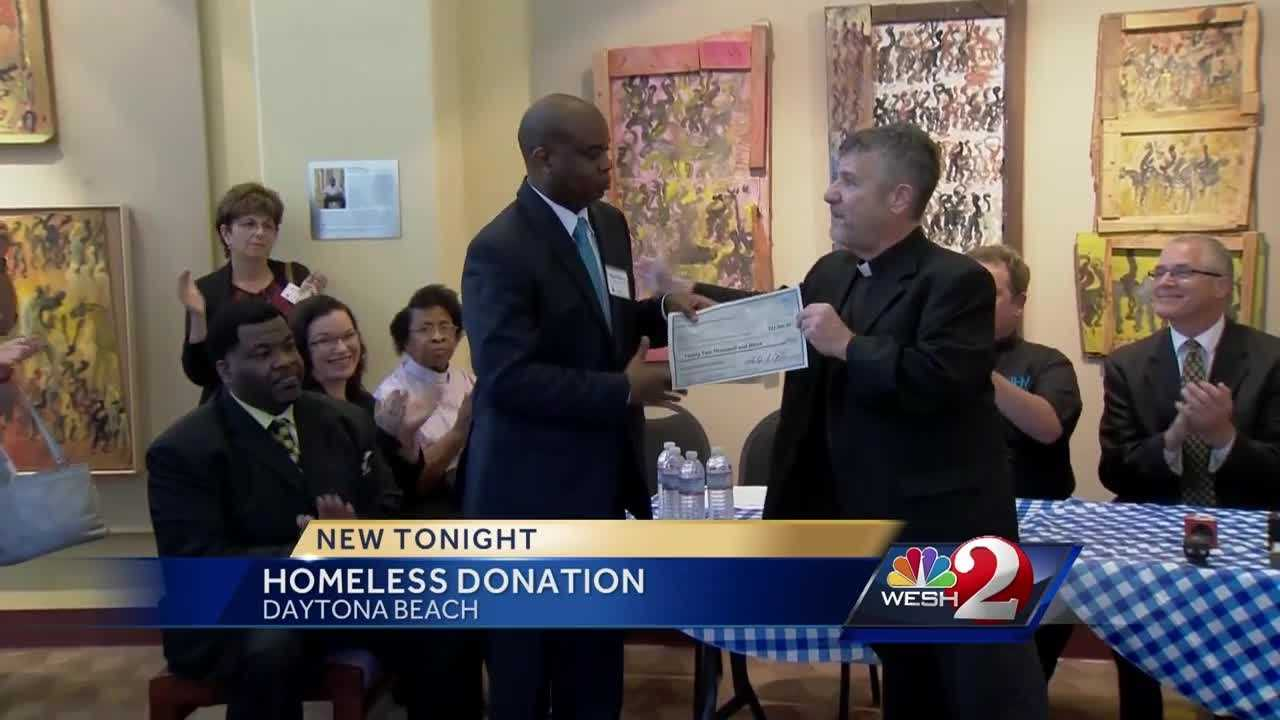 Tens of thousands of dollars in donations are now going towards the homeless problem in Daytona Beach, but some protesters say that's not enough. Chris Hush reports.