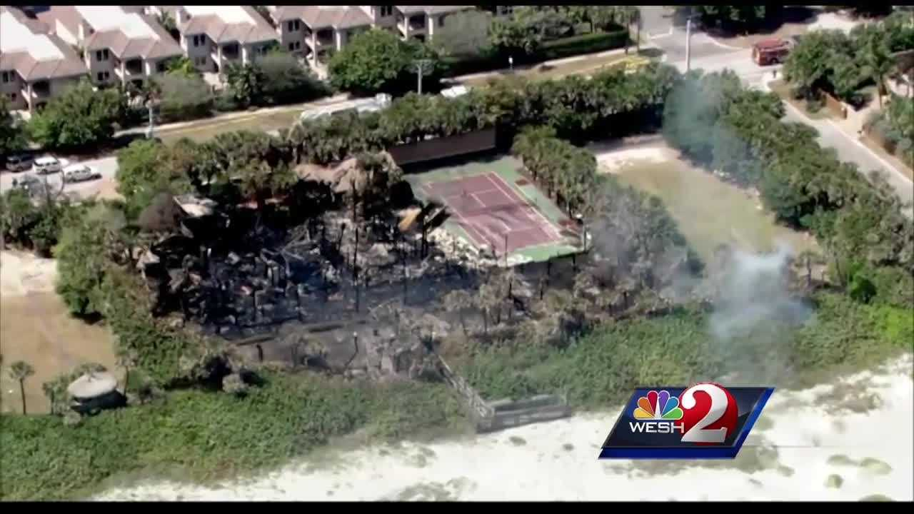 Cocoa Beach's fire chief says construction was going on at the former mansion once owned by USA Today founder Al Neuharth, and fire investigators will look into whether that played a role in the blaze that destroyed the 10,000-square-foot, oceanfront home. WESH 2 News Reporter Dan Billow has the story.