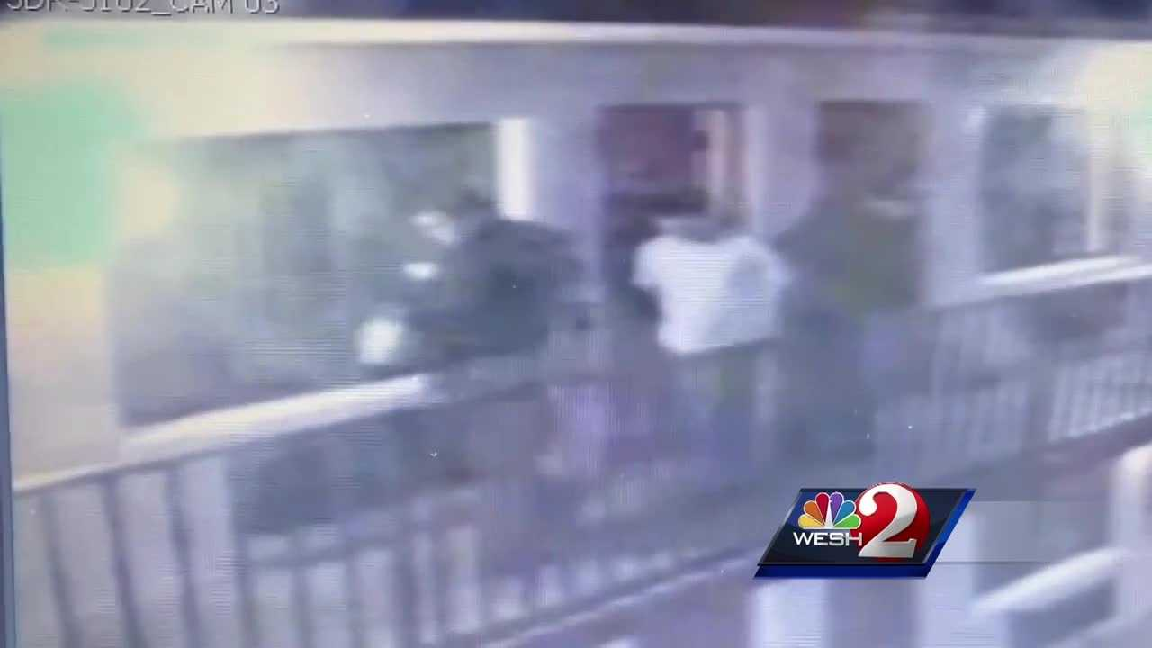 Just released personnel files show that one Kissimmee police officer...  involved the recent surveillance video  controversy had been fired by the department twice before.