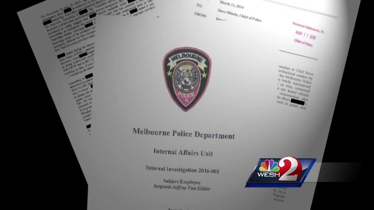 A Melbourne Police sergeant has resigned after an internal investigation. WESH 2 News Reporter Matt Lupoli has the story.