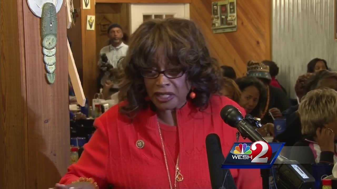 Congresswoman Corrine Brown fought today against a redistricting map that would force her to run in a reshaped district. The hearing comes just after Brown became the suspect of an ethics investigation. Matt Grant reports.