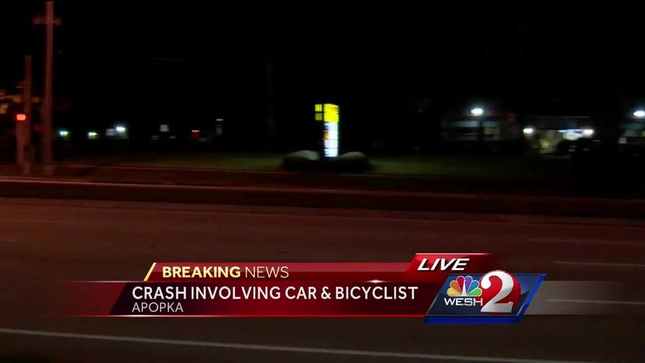 A bicyclist was hit by a vehicle on S.R. 436 near Apopka around 7 p.m. Summer Knowles (@WESH2SummerK) has the latest update.