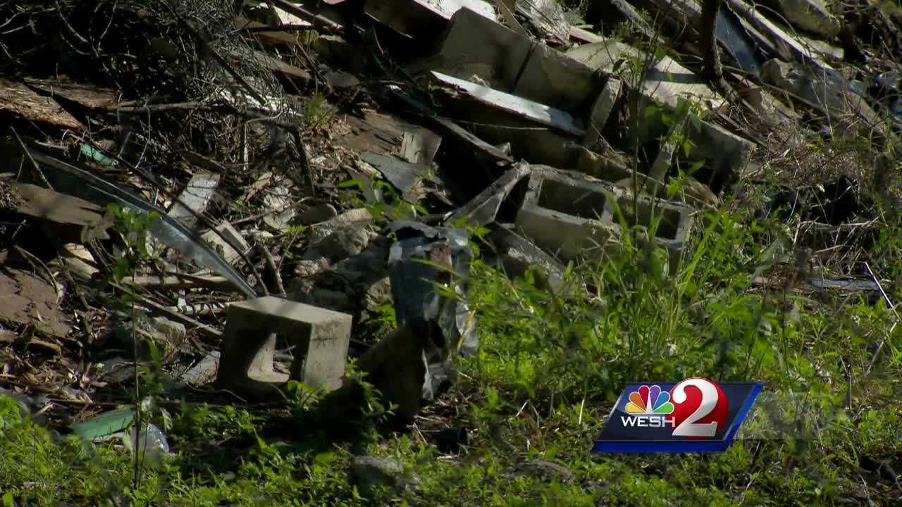 Cleanup is in the works where a dilapidated home once stood on 17th Street in Orange County. Matt Lupoli reports.