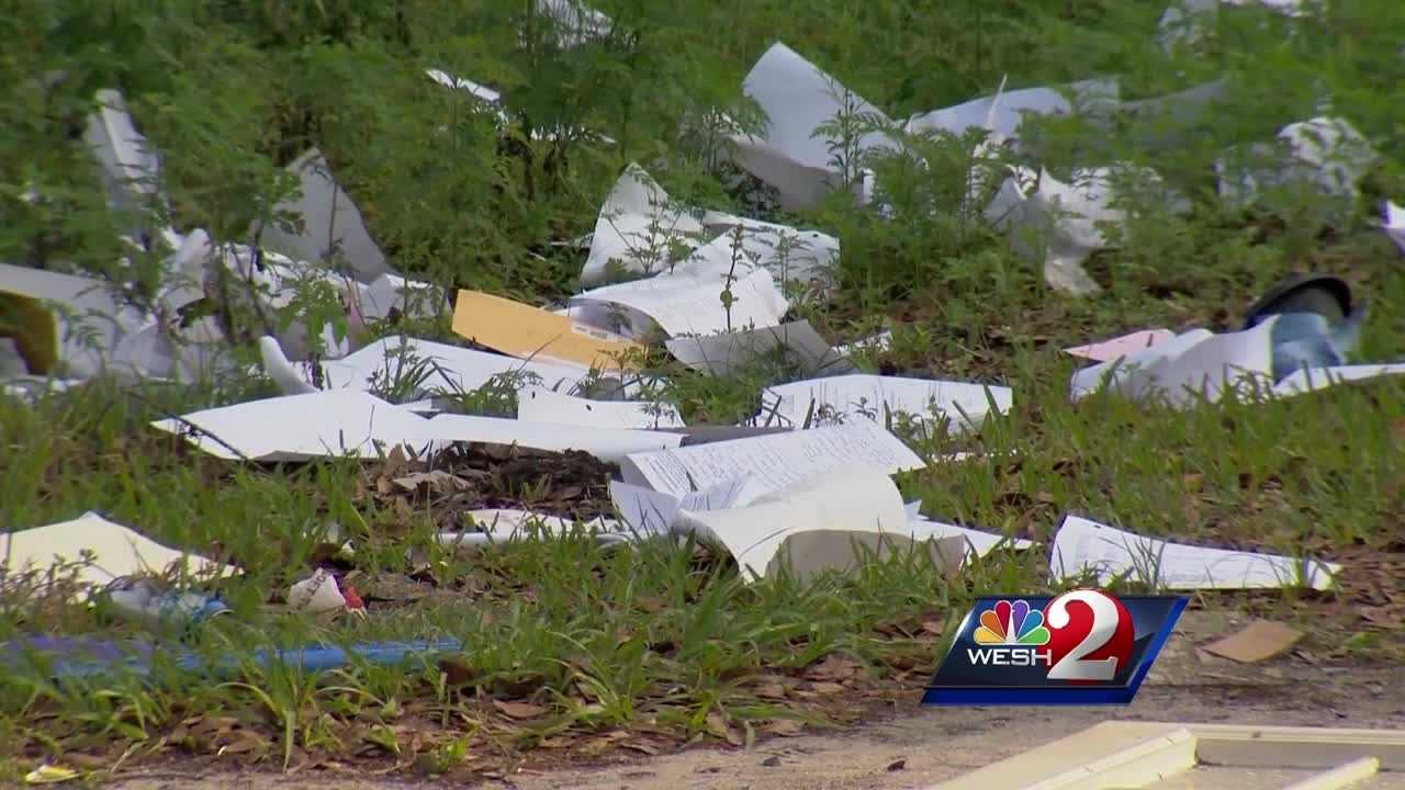 A day after learning their sensitive information was carelessly tossed into a dumpster and then strewn about a busy road, people drove to DeLand in hopes of avoiding becoming the victim of identity theft.