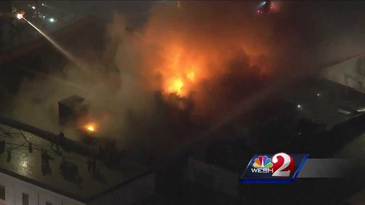 Two firefighters were injured while fighting a fire at a Tampa nightclub.