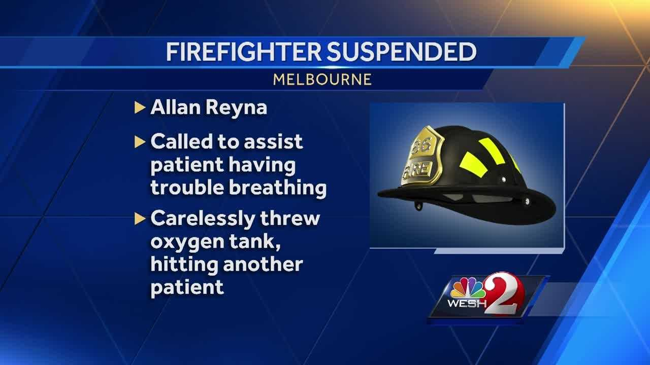 A Melbourne firefighter could be out of a job after being accused of unprofessional behavior for the third time in the last year.