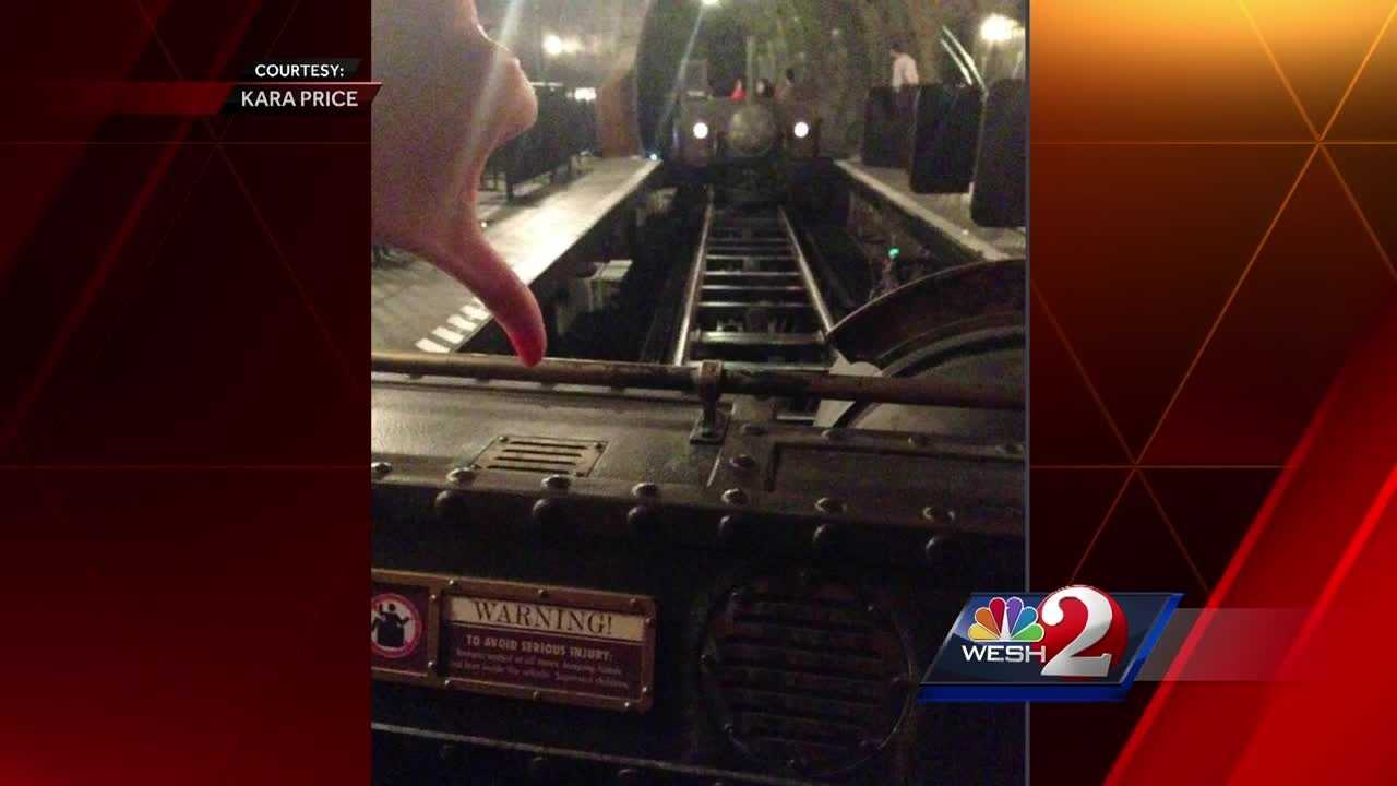 Orlando fire officials were on standby Thursday afternoon after a ride was reported to be stuck at Universal Studios.