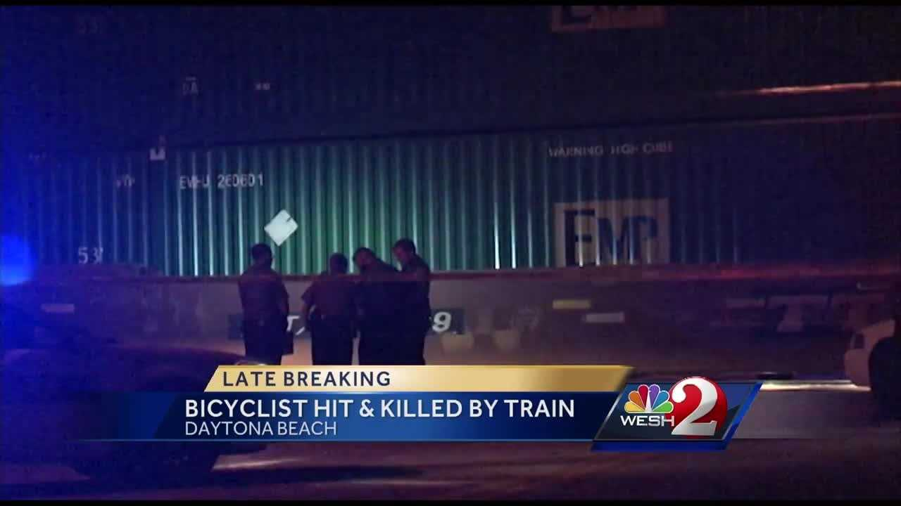 Daytona Beach police are looking into why a bicyclist ignored crossing arms before being hit and killed by a train. Stewart Moore reports.