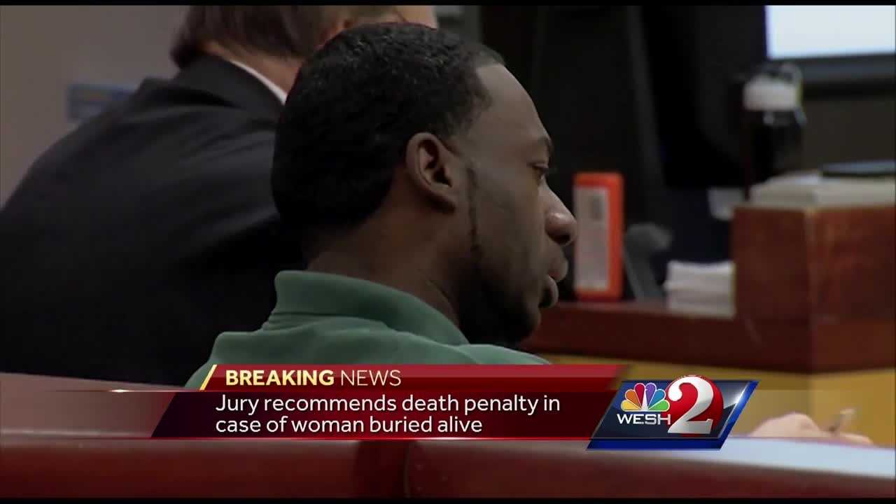 A Brevard County jury has recommended the death penalty for a man who ordered a woman to be buried alive. Vahtiece Kirkman was convicted Friday of first-degree murder in the 2006 murder of Darice Knowles. A jury on Tuesday recommended that he be sentenced to death.