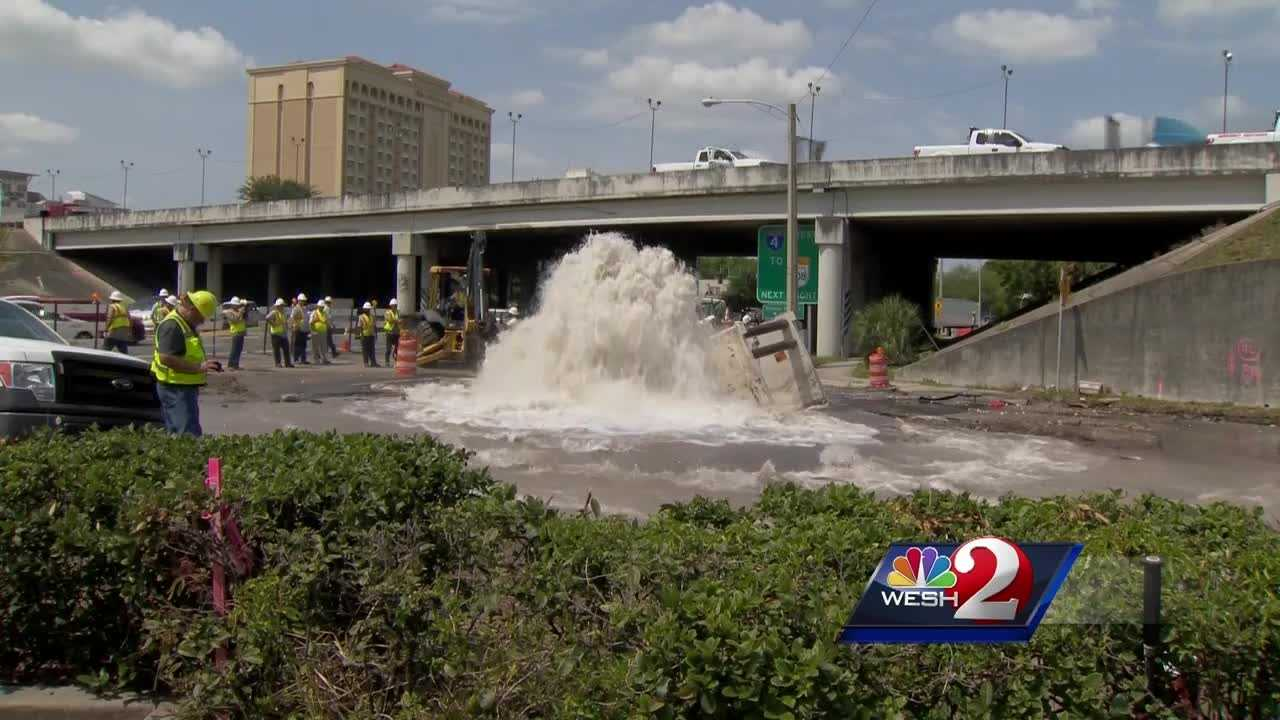 A massive water main break in downtown Orlando led to a boil water order for people in the immediate area, and fixing the pipe has proven to be even tougher than expected. Dave McDaniel (@WESHMcDaniel) has the story.
