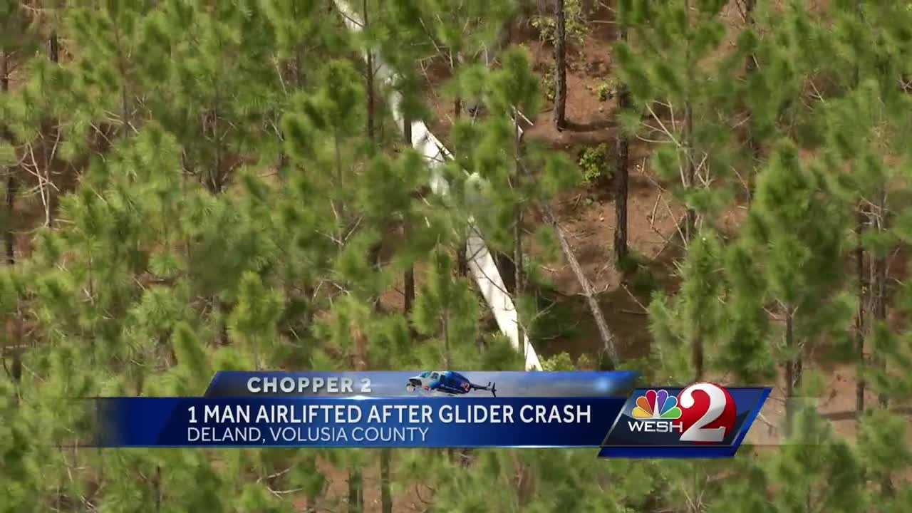 Investigators are trying to figure out what caused a power glider to crash in DeLand.