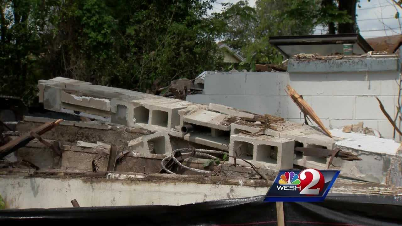 Deltona leaders say they're cleaning up their city one run down house at a time, and the wrecking ball was at it again Wednesday.