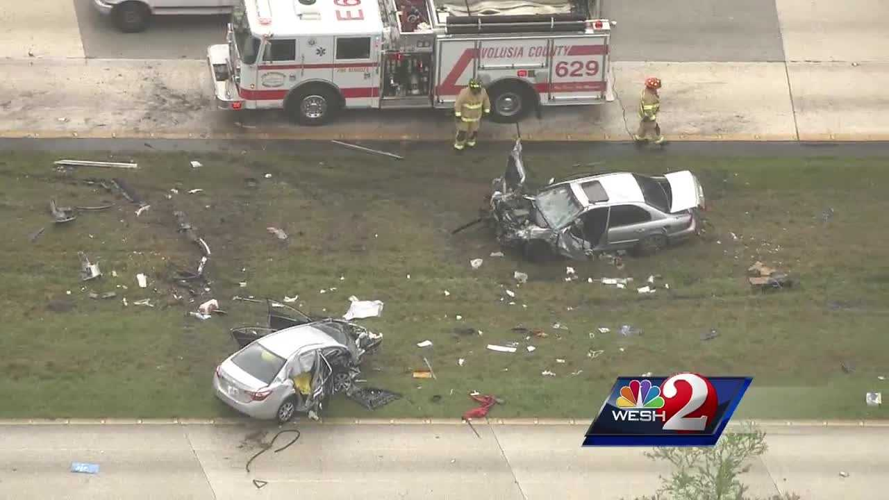 Two people are dead and at least one other is injured after a crash in Volusia County Friday afternoon.