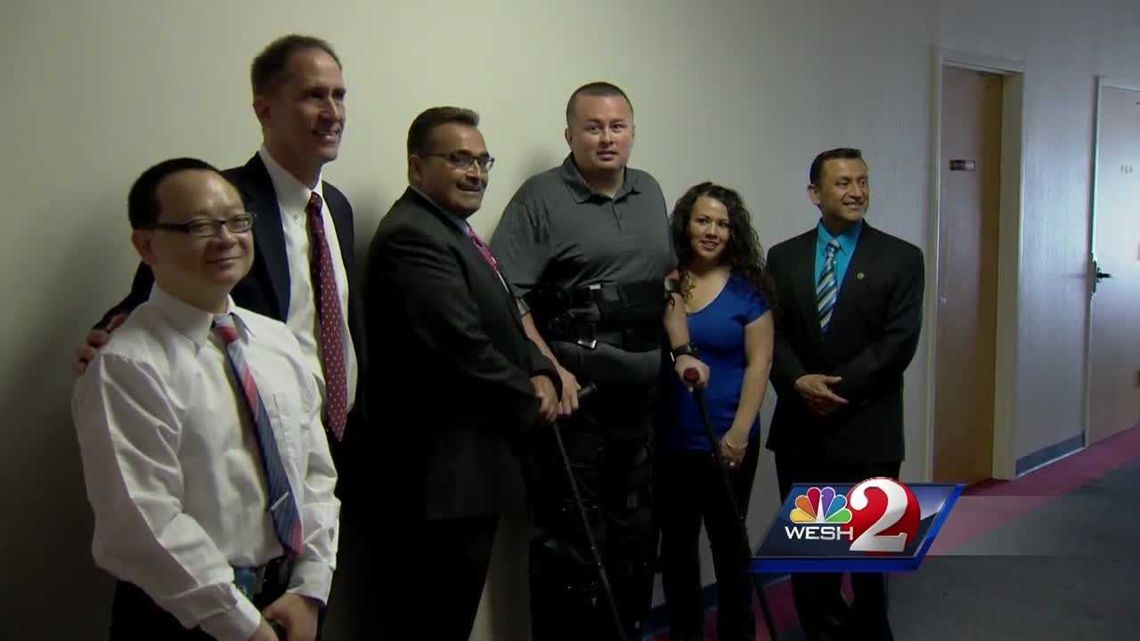 Ten wounded officers, some from different parts of the country, were honored in Orlando on Saturday.
