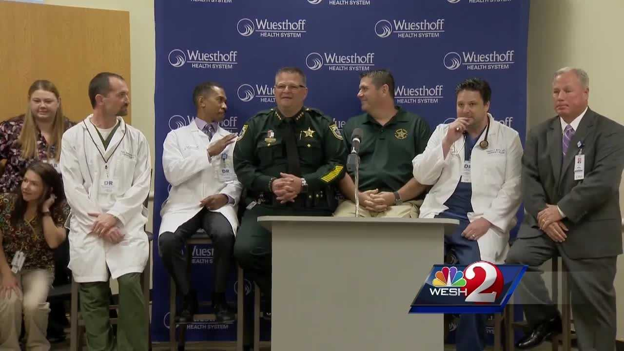 Choked with emotion, and grateful for a second chance, a local deputy wounded in the line of duty got a chance to thank the people who saved his life. Greg Fox (@GregFoxWESH) has the story.