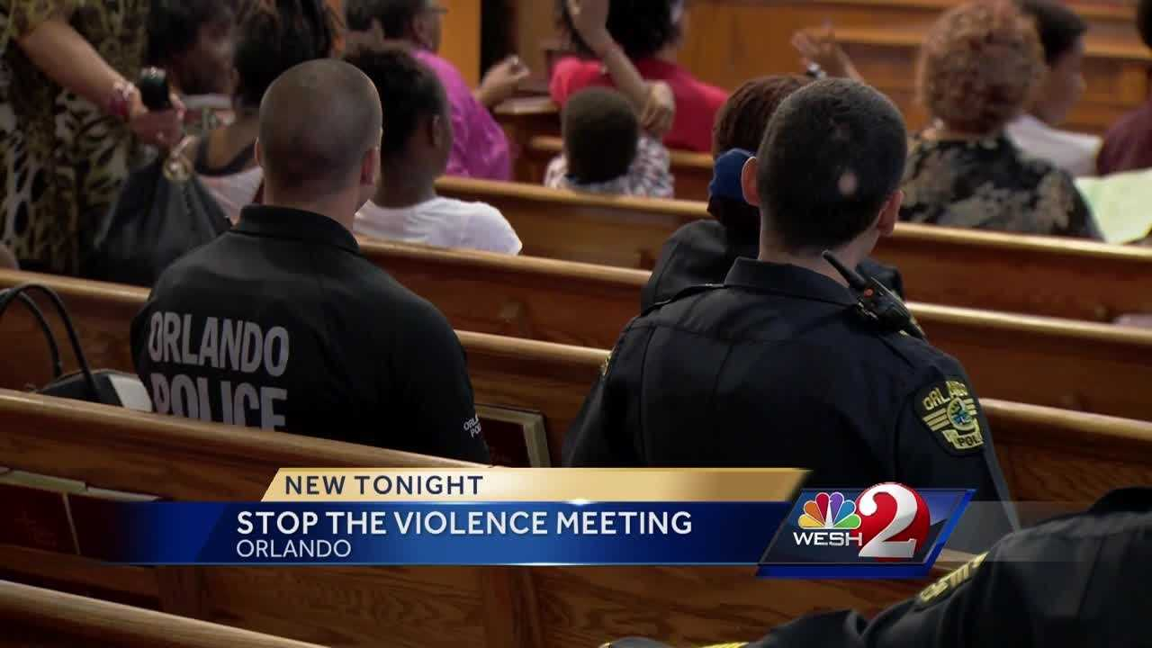 People in one Orlando neighborhood are saying it's time to stop the violence. In the wake of a number of deadly shootings in the city, many people filled a church to bring their concerns to local leaders. Matt Lupoli reports.