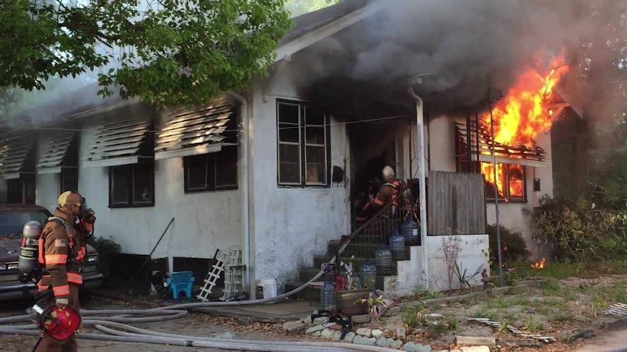 Ten people have been left homeless after a Daytona Beach home when up in flames Thursday morning.