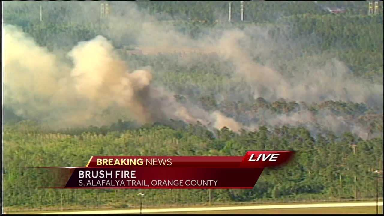 A brush fire was reported on S. Alafaya Trail in Orange County, according to Orange County Fire Rescue. It happened Thursday afternoon. Jim Payne reports.