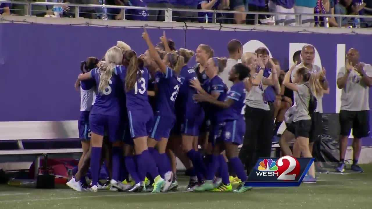 After setting a record for the largest attendance in a single-match National Women's Soccer Game, the Orlando Pride finished their home opener at the Citrus Bowl on top.