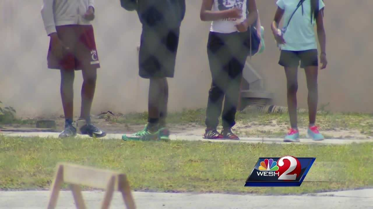 A local girl said a student set her hair on fire. The teacher helped to put out the fire, and now the district is investigating. Gail Paschall-Brown (@gpbwesh) has the story.