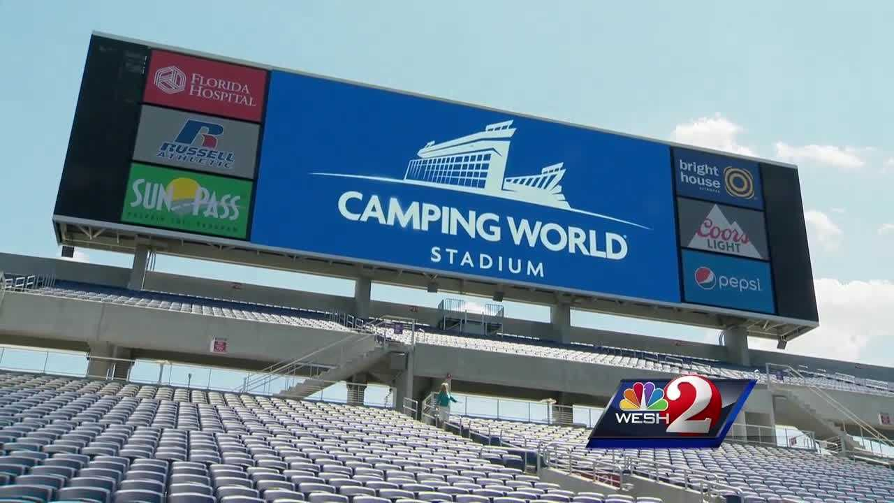 The Orlando Citrus Bowl, the region's largest football stadium and home to Orlando City and the Orlando Pride, has been renamed Camping World Stadium. Amanda Ober (@AmandaOberWESH) has the latest update.