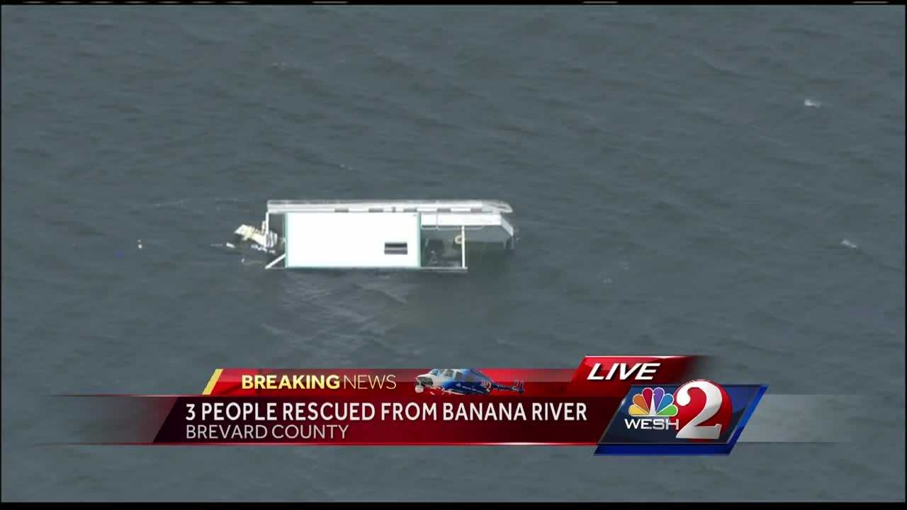 Brevard County Fire Rescue crews responded Monday afternoon to a report of an overturned watercraft in the Banana River, officials said.