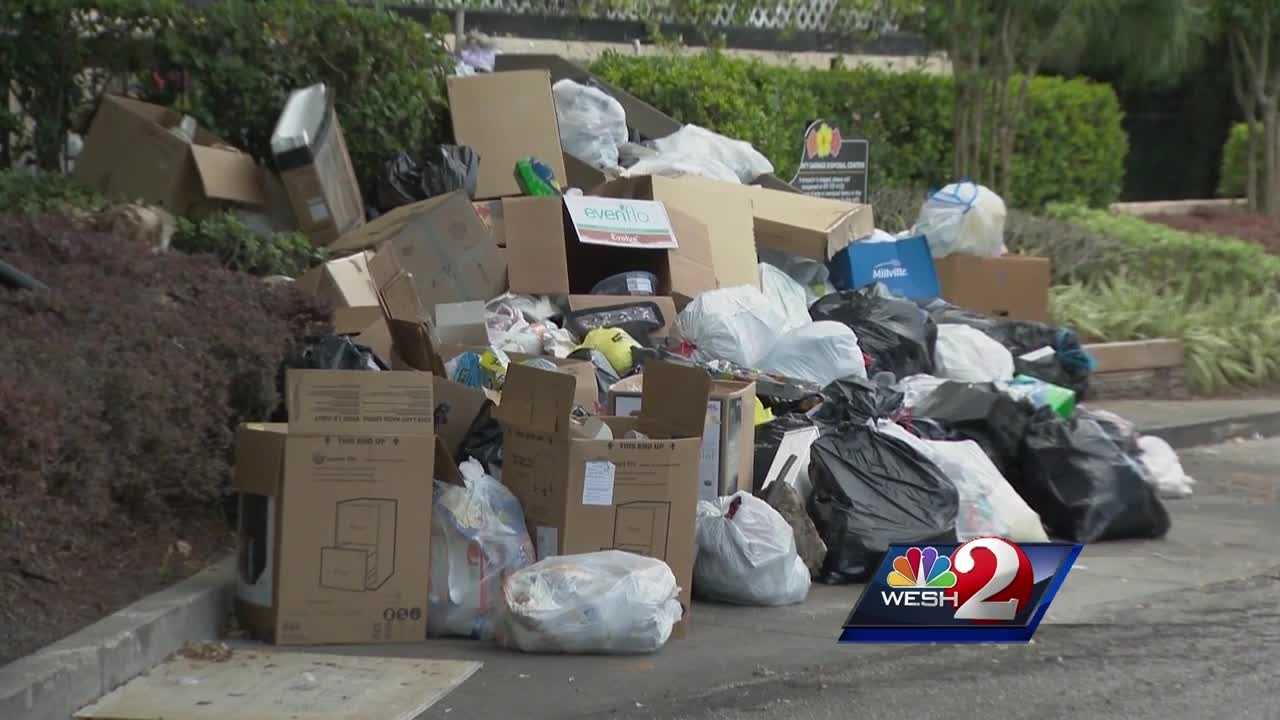 Garbage had apparently been piling up for weeks at Avalon Condominiums and residents want something done about it. Trash is overflowing the dumpster and stacked up along the neighborhood streets. Chris Hush reports.