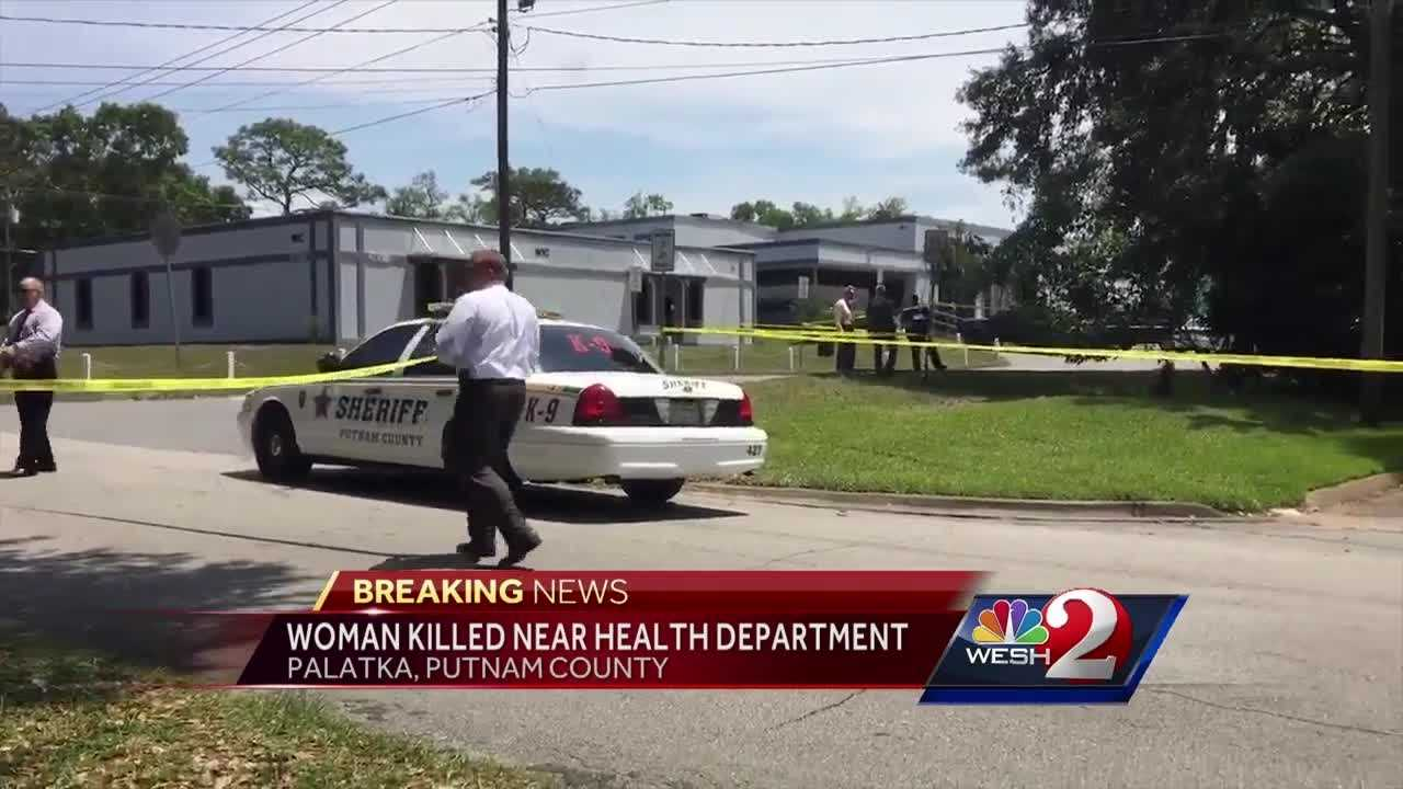 All Palatka schools were put on lockdown Tuesday after a woman was shot in the face near the Florida Department of Health building, officials told WESH 2 News.