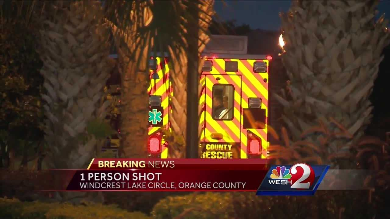 One person has been shot on Windcrest Lake Circle in Orange County. WESH 2's Matt Lupoli has the story.