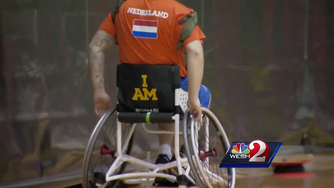 More than 500 soldiers from around the world are competing in Orlando this week at the Invictus Games, an Olympics-like competition for veterans who have survived injuries.