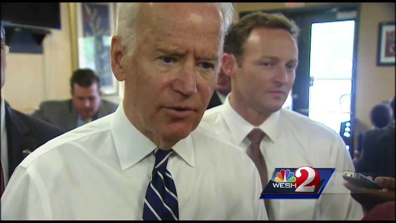 Vice President Joe Biden made a surprise visit to downtown Orlando Thursday. He's in central Florida for the Invictus games, and raising money for a Democratic candidate for U.S. Senate.