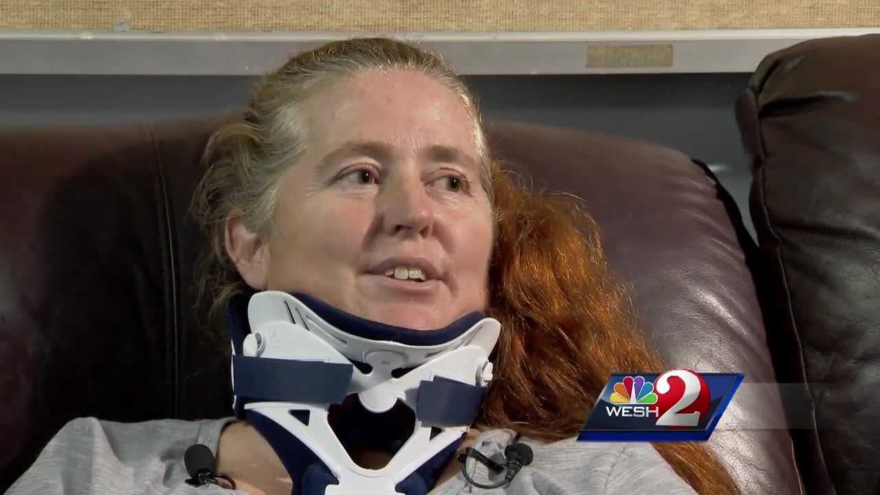 WESH 2 News is speaking to the Orange City firefighter paramedic who was run over by a car last month while trying to help the woman who had just been stabbed by her husband. Claire Metz (@clairemetzwesh) reports.