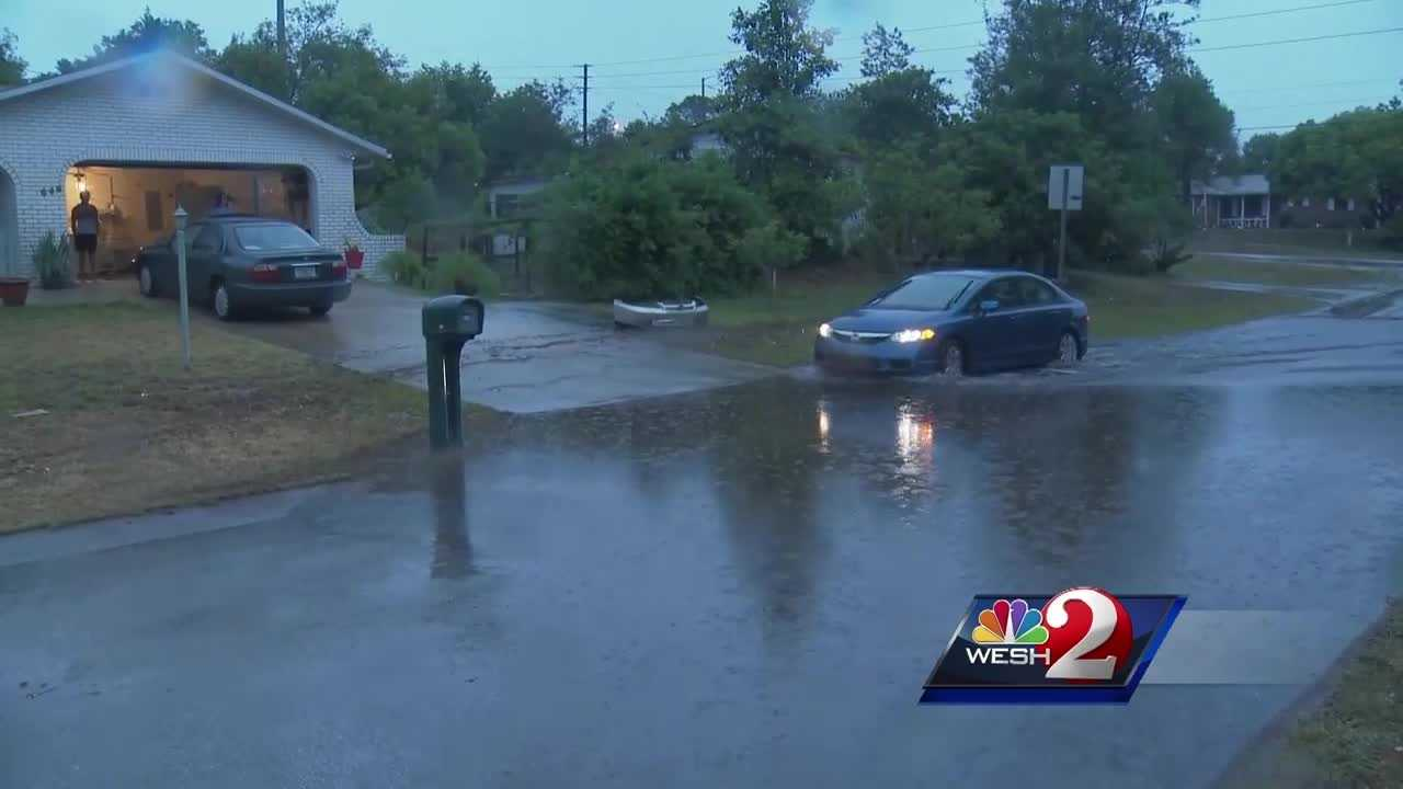 From flooded roads on the coast to downed trees in Orlando, Tuesday's storms covered Central Florida. Summer Knowles brings us the latest update on storm damage.
