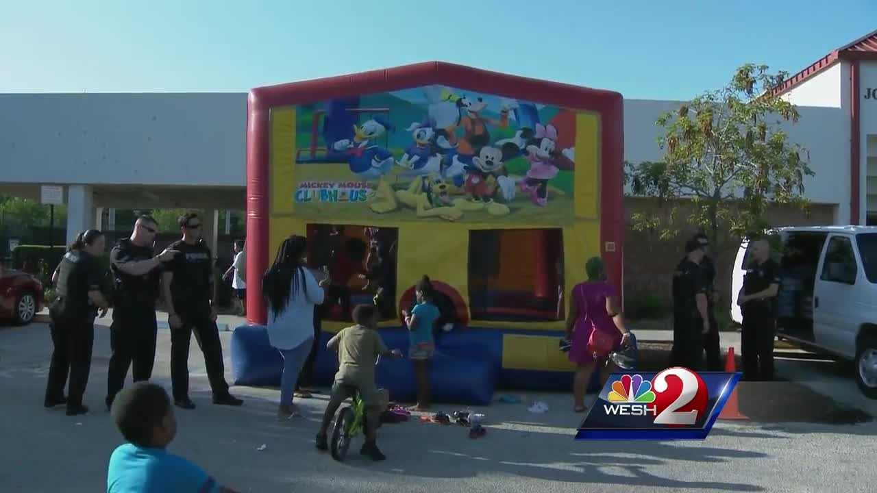 Police Chief John Mina said events like this one will help his officers connect with the community, and he hopes the city will see several more similar events in the future. Matt Lupoli reports.