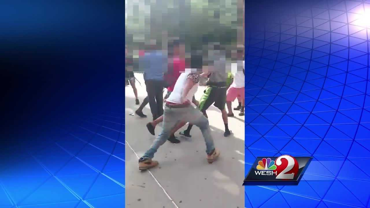 A dozen of the students involved in a brawl at Lake Brantley High School have been identified and were not allowed at school Friday.