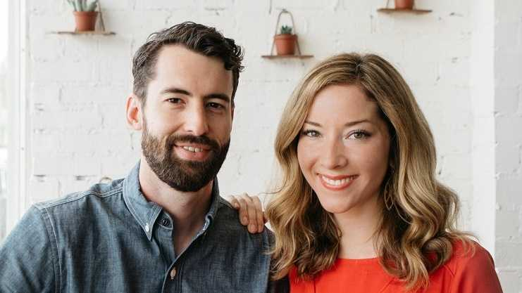 Farm Haus owners Patrick Lyne and Brittany Walsh-Lyne.