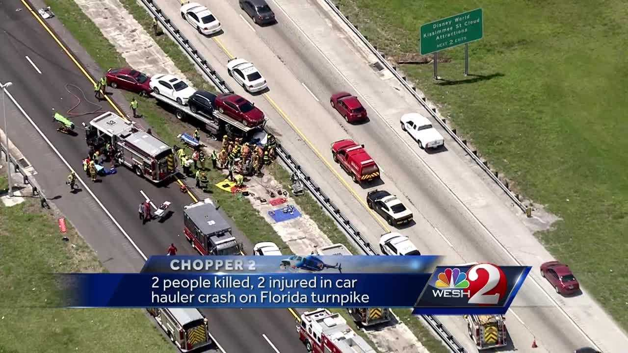 New details were released in a crash on the Florida Turnpike in Central Florida that shut down traffic. A second person has died after a car hauler and an SUV collided.