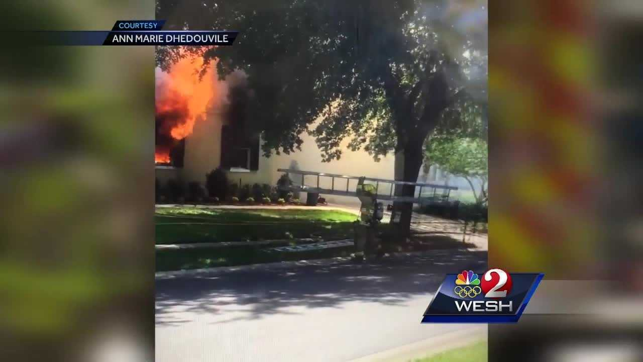 It was a busy day for Seminole County firefighters as they scrambled to battle two house fires at the same time. Chris Hush reports.