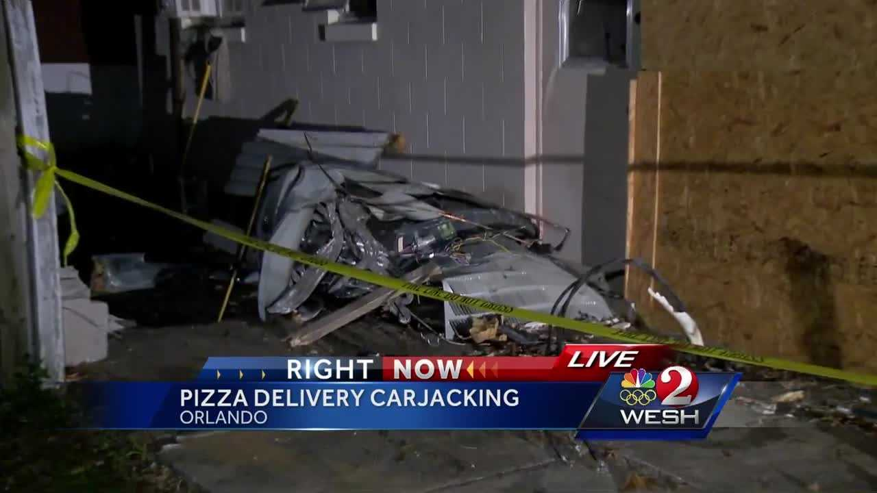 Police are still looking for the woman who carjacked a pizza delivery driver, then crashed into a house. The owner of that pizza shop is speaking out. Summer Knowles reports.