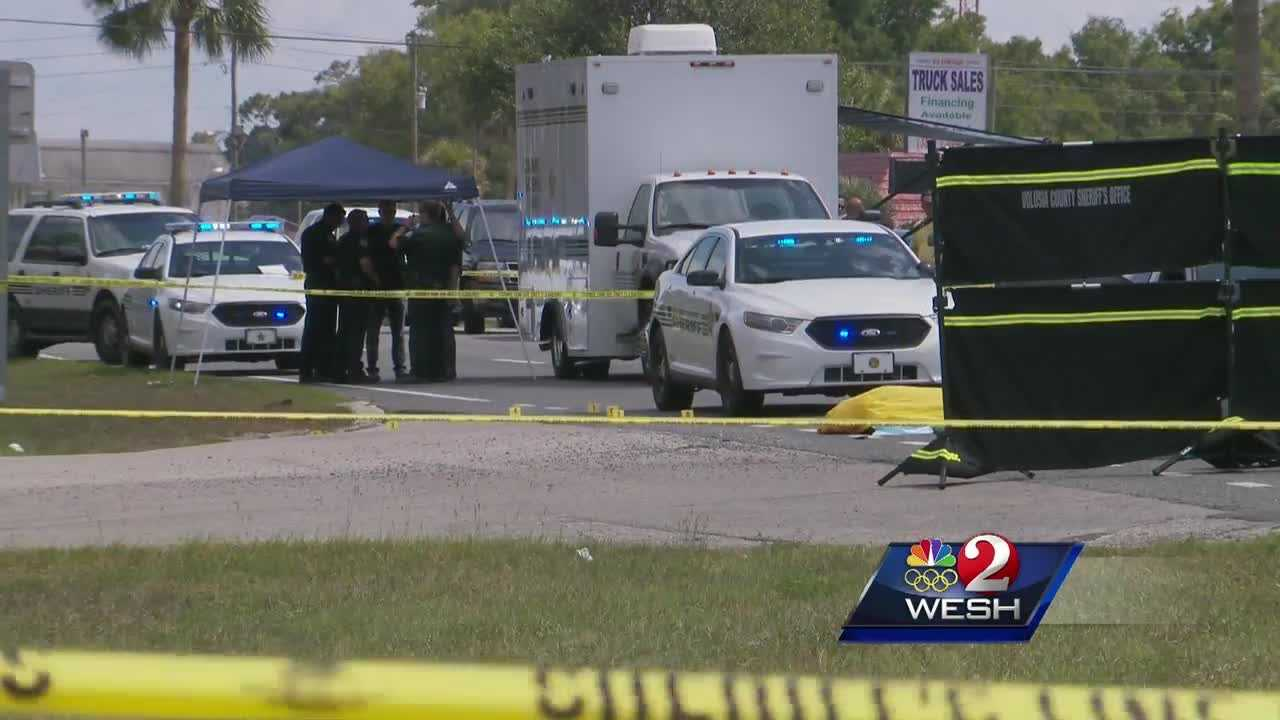 An armed robbery suspect was shot to death Sunday afternoon in an encounter with Volusia County Sheriff's deputies in DeLand.
