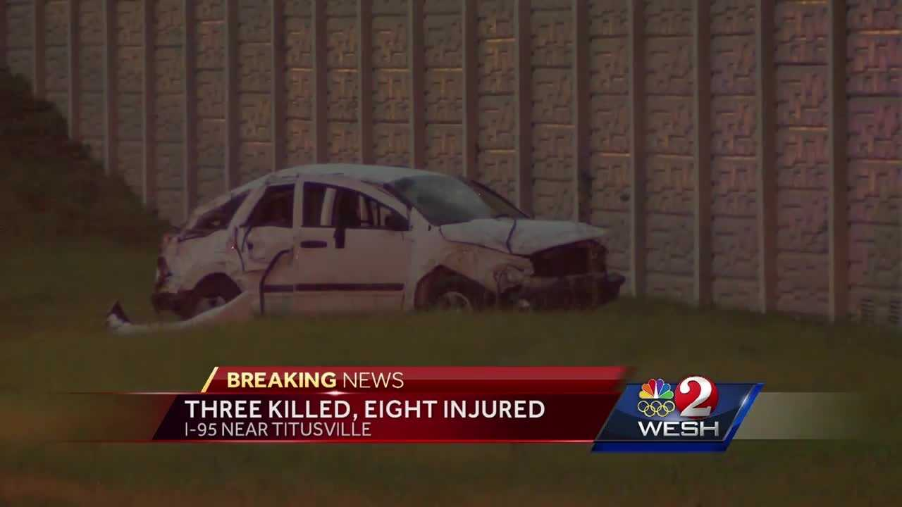 Three people are dead and eight are injured in an accident that stalled traffic on I-95 in Brevard County. Summer Knowles has the latest update.