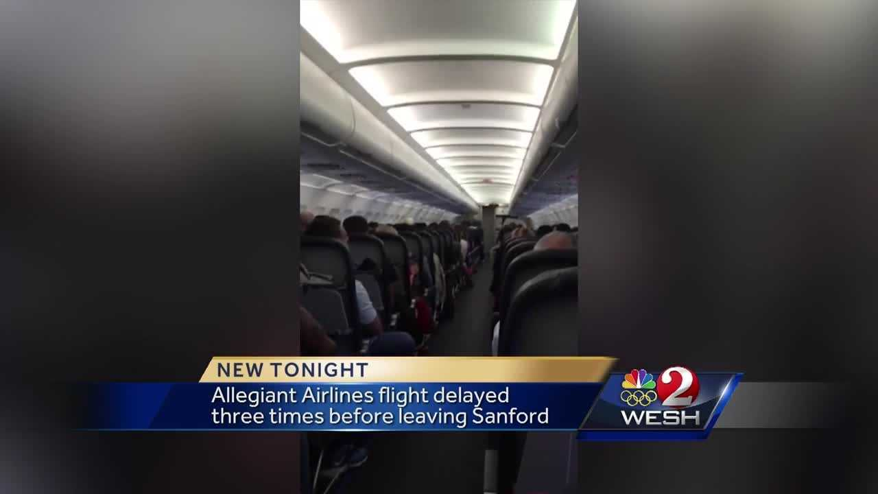 An Allegiant Airlines flight landed in Charlotte several hours after it was supposed to Monday evening. The flight was supposed to leave Sanford Monday morning, but was delayed three times before it took off. Chris Hush has the story.