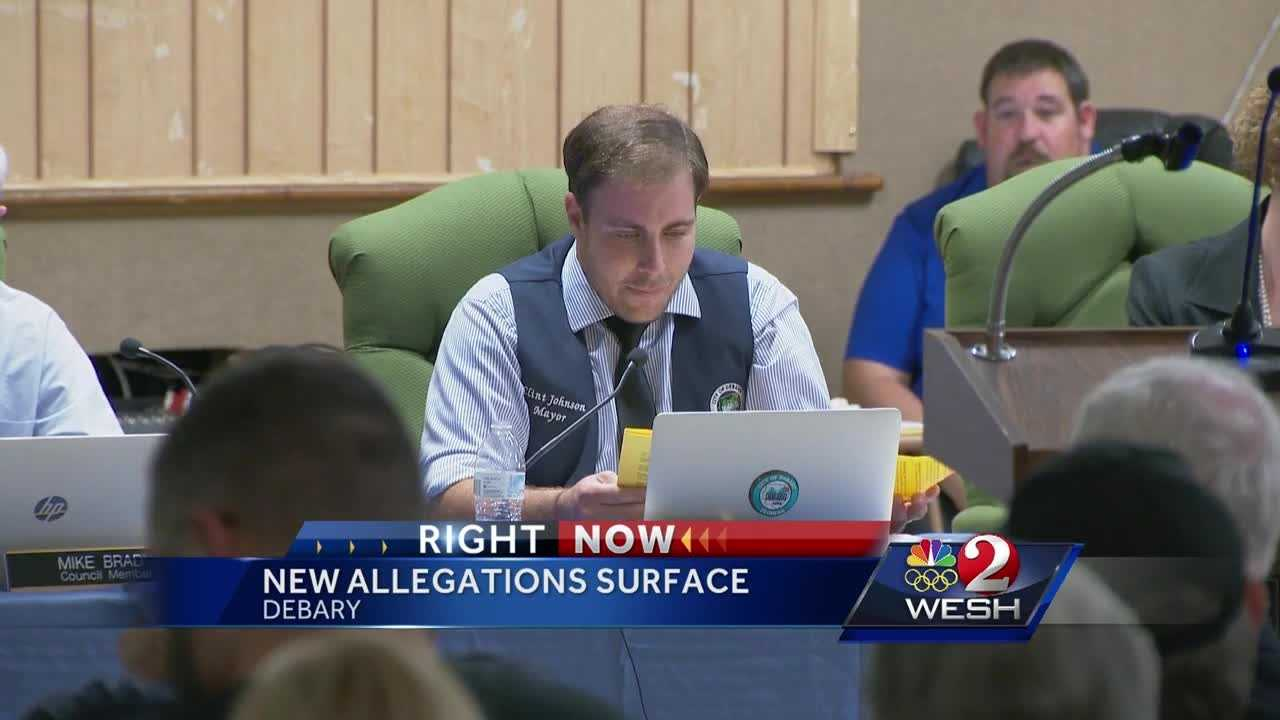 DeBary city council has still not decided whether their mayor is in or out. They spent Wednesday night debating whether to remove Clint Johnson following an ethics investigation into his actions. Chris Hush reports.
