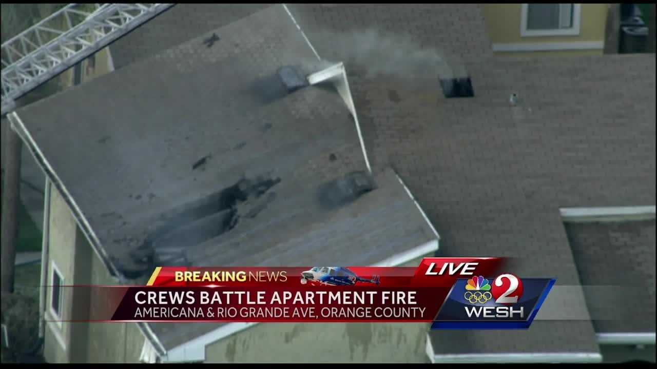 Crews responded to a report of an apartment fire on Americana Boulevard Friday afternoon around 3:30 p.m., officials told WESH 2 News. Stewart Moore has the latest update.