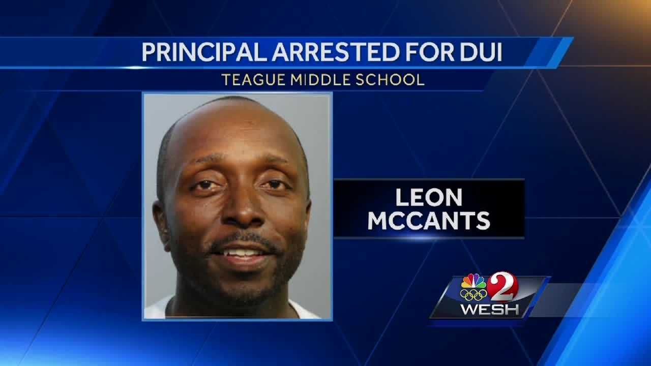 A Seminole County principal was arrested over the weekend, accused of drinking and driving. Leon McCants, the principal at Teague Middle School, is also under investigation for another reason. Gail Paschall-Brown explains.
