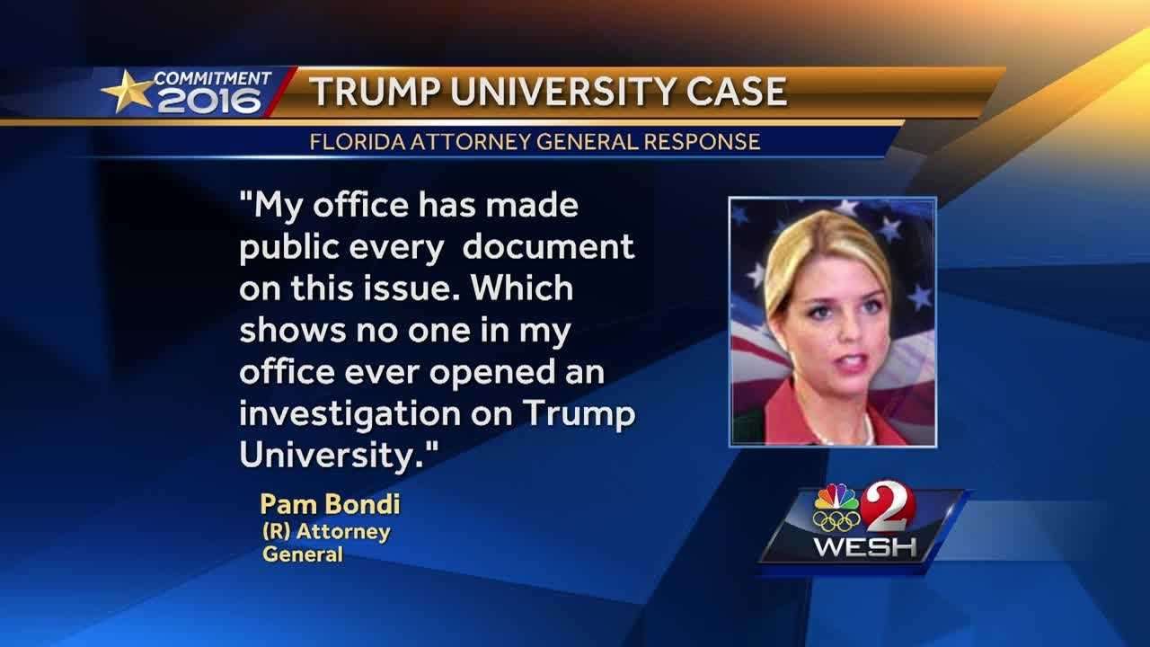 A government watchdog group is calling for an audit of Florida Attorney General Pam Bondi's actions regarding Trump University. Greg Fox (@GregFoxWESH) explains.