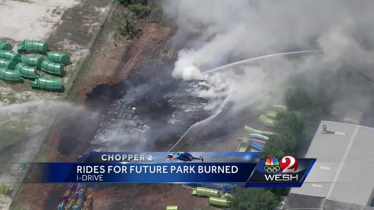 A source at Universal told WESH 2 News the fire was in an empty lot where officials were storing equipment for the new Volcano Bay attraction.