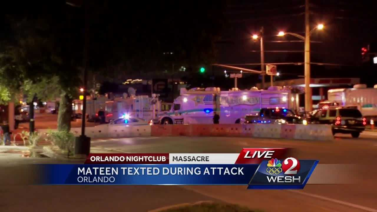 Omar Mateen, the man who murdered 49 people and injured 53 more at Pulse, was texting his wife during the shooting rampage, officials said Thursday. Summer Knowles has the latest update.