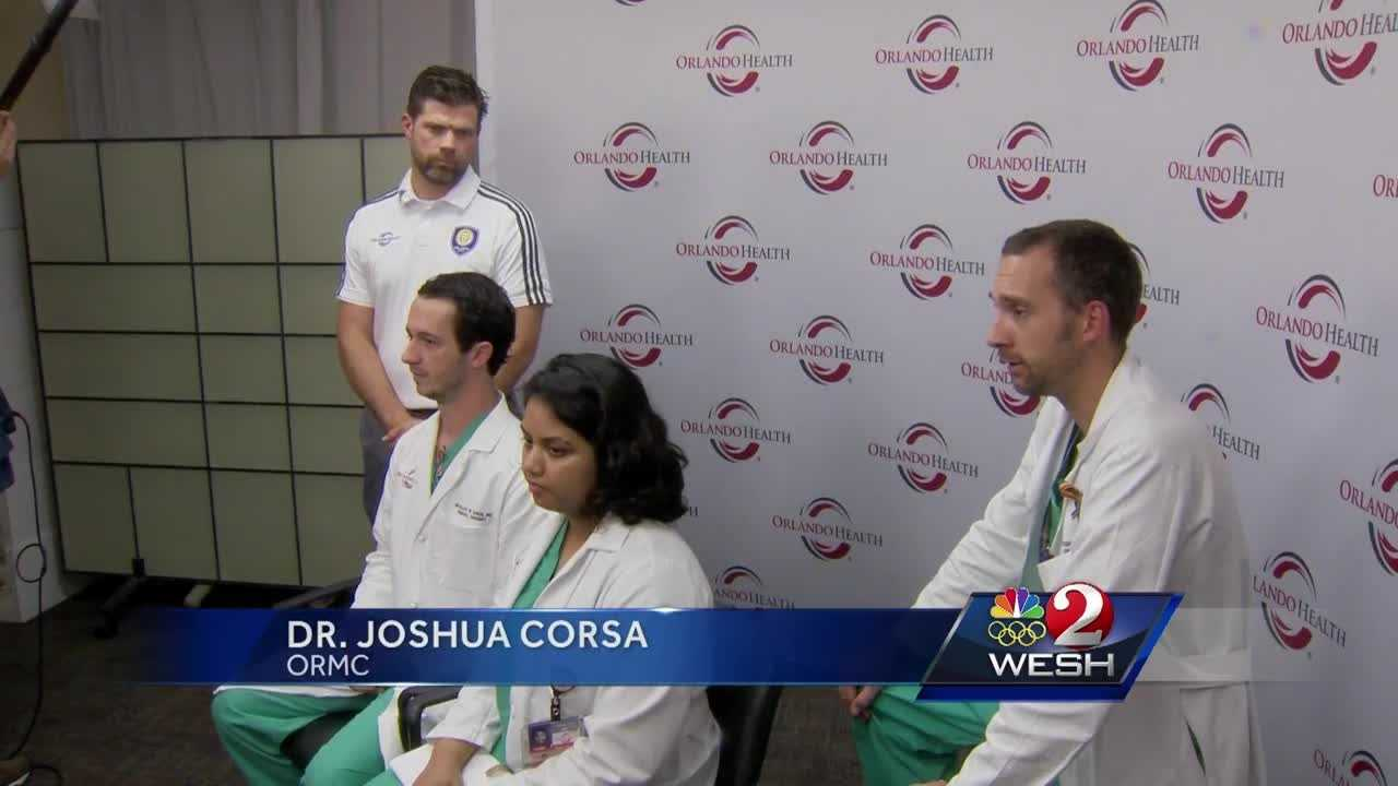 Orlando Regional Medical Center staff members give updates on patients and share their stories of what they have been through over the past week since the nightclub shooting. Matt Lupoli reports.