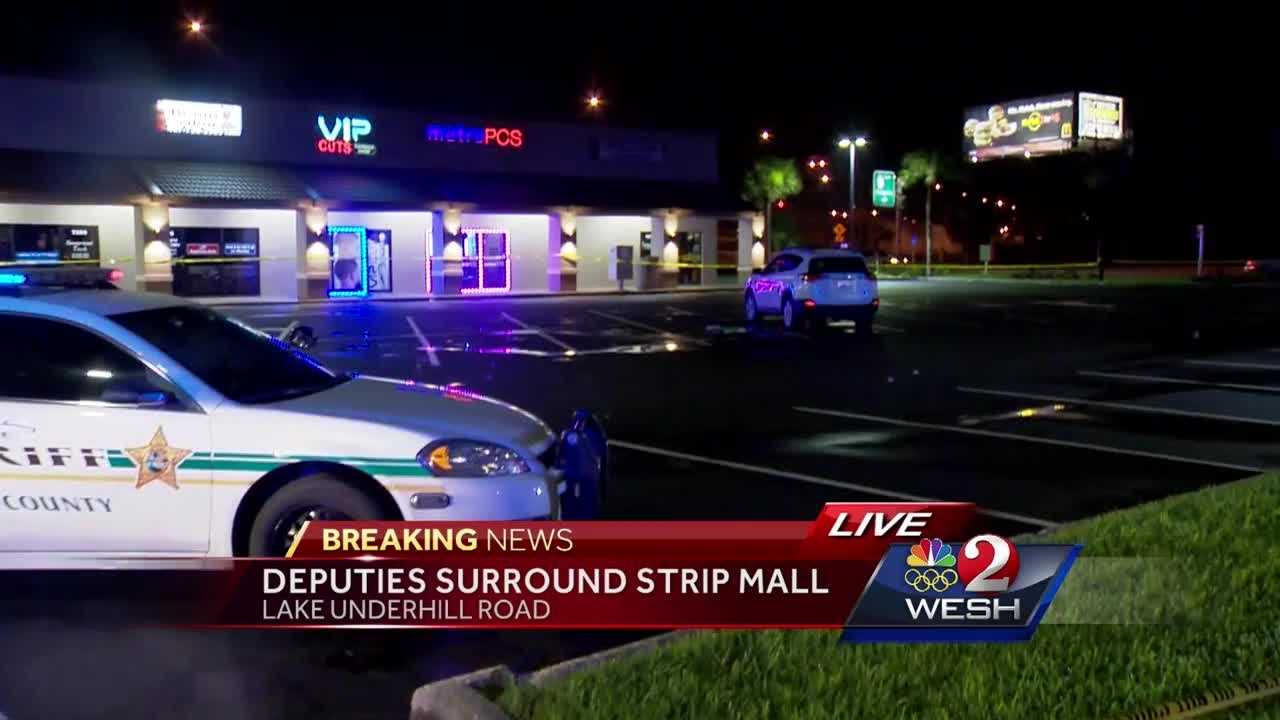 Deputies are investigating a shooting that happened late Saturday night at a strip mall on Lake Underhill Road.
